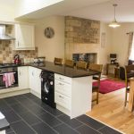 Self-catering accommodation in Northumberland, Bramley cottage living area and kitchen